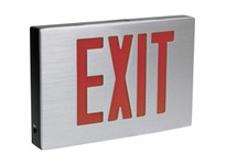 Orbit NYESLA-A-B-2-EB-SDT LED NY CAST AL EXIT SIGN AL HSGBLK HSG2FBAT B-UP S DIAG