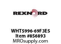 REXNORD WHT5996-69F3E5 WHT5996-69 F3 T5P N2 WHT5996 69 INCH WIDE MATTOP CHAIN W