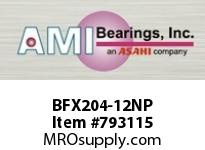 AMI BFX204-12NP 3/4 NARROW SET SCREW NICKEL 2-BOLT ROW BALL BEARING