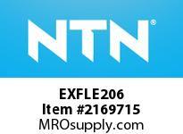 NTN EXFLE206 Oval flanged bearing unit