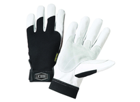 West Chester 86552/S Iron Cat - 360 degree Kevlar Lining. Heavy Duty Grain Goatskin glove is a natural fitting glove for general duty tasks. It features split patch reinforcements on the palm and thumb saddle as well as reinforced fingertip
