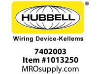 HBL-WDK 07402003 S-TITE CONN STR MALE 3/4W/MESH
