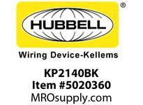 HBL_WDK KP2140BK FACEPLT KP SER 1-G COAX/JACK BLK