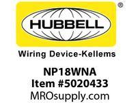 HBL_WDK NP18WNA WALLPLATE 2-G 1) DUP 1) TOG WHITE