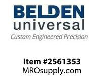 Belden UJ-1750 Boot Universal Joint Boot Covers 2.625in Long 2.625 Wide 1.75inID Key none Setscrew n/a Marerial Nitrile