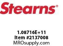 STEARNS 108716100050 BRK-VASPEC HUB&TP DISC 172688
