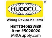 HBL_WDK HBTT0406SWBK WBPRFRM RADI T 4Hx6W BLACKSTLWLL