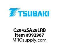 US Tsubaki C2042SA28LRB C2042 RIV 8L/SA-2