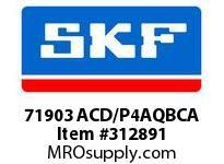 SKF-Bearing 71903 ACD/P4AQBCA