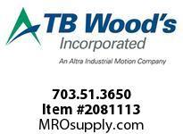 TBWOODS 703.51.3650 MULTI-BEAM 51 1/2 --7/8