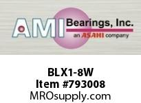 AMI BLX1-8W 1/2 NARROW SET SCREW WHITE 2-BOLT F BEARING