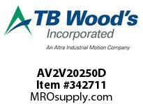 TBWOODS AV2V20250D 25HP 230V 3PH AQUAVAR II CT