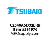 US Tsubaki C2040ASD32LRB C2040AS RIV 2L/D-3