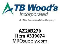 TBWOODS AZ20B278 AZ20-BX2 7/8 FF COUP HUB