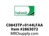 "Habasit C0843TP+0144LFAA 843 2.44"" Low Friction Acetal Top Plate"