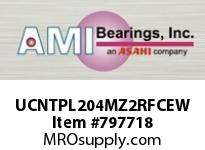 AMI UCNTPL204MZ2RFCEW 20MM ZINC SET SCREW RF WHITE TAKE-U COVERS SINGLE ROW BALL BEARING