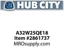 HUB CITY A32W25QE18 320 ASSY WORM INTG 25/1 182TC Service Part