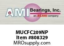 AMI MUCFC209NP 45MM STAINLESS SET SCREW NICKEL PIL SINGLE ROW BALL BEARING