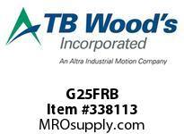 TBWOODS G25FRB 2 1/2FX3/4 RB GEAR HUB