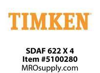 TIMKEN SDAF 622 X 4 SRB Pillow Block Housing Only