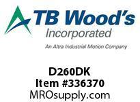 TBWOODS D260DK DISC PACK KIT