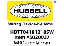 HBL_WDK HBTT04181218SW WBPRFRM RADI T 4Hx18Wx12Wx18WSTLWLL