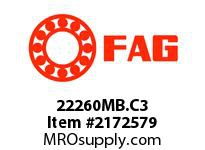 FAG 22260MB.C3 DOUBLE ROW SPHERICAL ROLLER BEARING