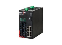 NT24K-14GXE6-SC-80-POE 14-Port Gigabit Managed POE+ Industrial Ethernet Switch (8 10/100/1000BaseT 6 1000BaseLX