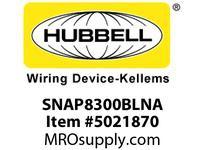 HBL_WDK SNAP8300BLNA SNAP2CONNECT DPLX HG 20A/125V US BL