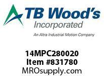 TBWOODS 14MPC280020 14MPC-2800-20 QTPCII BELT