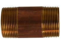 MRO 40131 1-1/4 X 8 RED BRASS NIPPLE