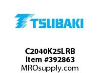 US Tsubaki C2040K25LRB C2040 RIV 5L/K-2