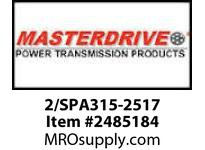 MasterDrive 2/SPA315-2517 2 GROOVE SPA SHEAVE