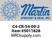 """Martin SprocketC4-CR-54-09-2 CEMA C4 54"""" CI 2"""" DROP RETURN CEMA C 54"""" BELT WIDTH"""