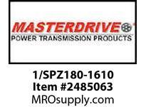 MasterDrive 1/SPZ180-1610 1 GROOVE SPZ SHEAVE