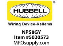 HBL_WDK NPS8GY WALLPLATE 1G DUPLEX SNAP-ON GRAY