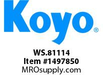Koyo Bearing WS.81114 NEEDLE ROLLER BEARING THRUST WASHER