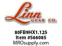 Linn-Gear 80FB9HX1.125 HARDENED SPROCKET  H1