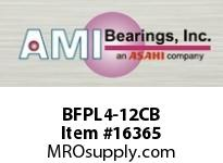 AMI BFPL4-12CB 3/4 NARROW SET SCREW BLACK 4-BOLT F PLASTIC HSG W/O.C & BS