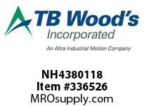 TBWOODS NH4380118 NH4380X1 1/8 FHP SHEAVE