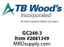 TBWOODS GC240-3 HUB GC240 ROUGH BORE