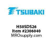 US Tsubaki H50SDS26 HT Cross Reference H50SDS26 QD SPROCKET HT