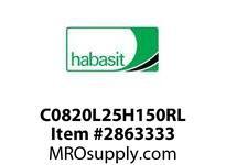 "Habasit C0820L25H150RL 820-25 X 1-1/2"" Split Idler Wheel"