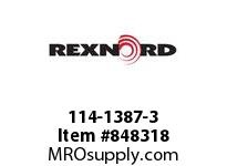 REXNORD 114-1387-3 KU5966-21T 1-1/2 SQ KU5966-21T SOLID SPROCKET WITH 1-1/