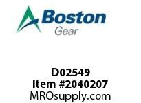 Boston Gear D02549 SF862BR-11K-B9-M HELICAL/WORM SPEED REDUCER