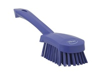REMCO 41928 Vikan Scrub Brush Short Handle Brush- Stiff- Purple (