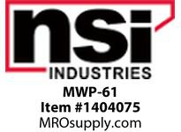 NSI MWP-61 MODULAR TELEPHONE WALL 6 CONDUCTOR WHITE