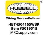 HBL_WDK HBT450416SWBK WBPRFRM RADI 45 4Hx16W BLACKSTLWLL