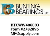 BUNTING BTCWW406003 2 - 1/2 x 3 - 3/4 x 5/64 Composite Laminate Composite Laminate Washer