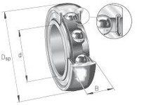 INA 201NPPB Radial insert ball bearing